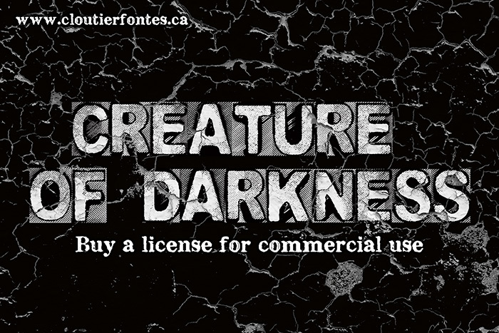 CF Creature of Darkness Font poster