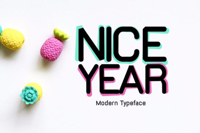 Nice Year Font poster