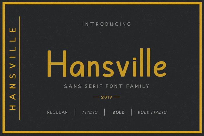 Hansville Font poster
