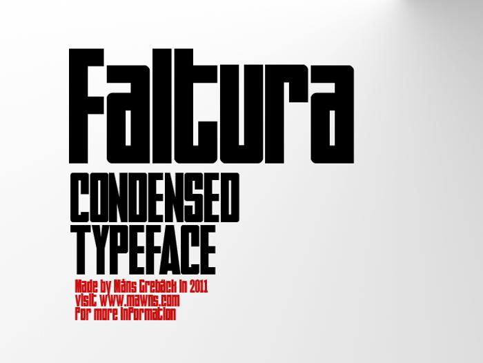 Faltura Font poster