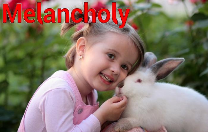 Melancholy Font poster