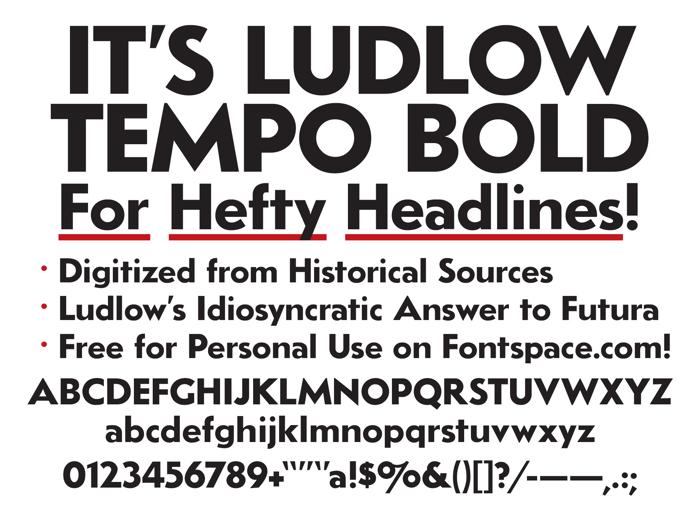 LudlowTempo Font poster