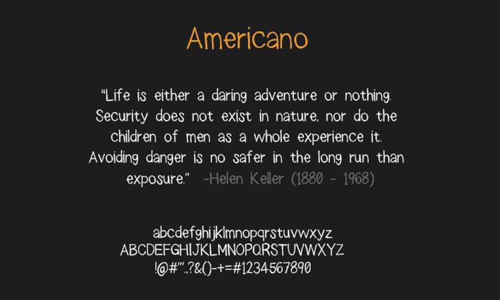 americano Font poster