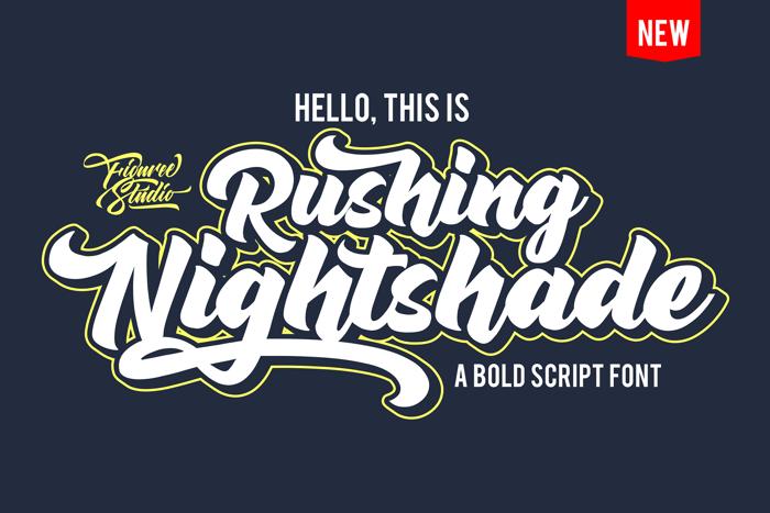 Rushing Nightshade Font poster
