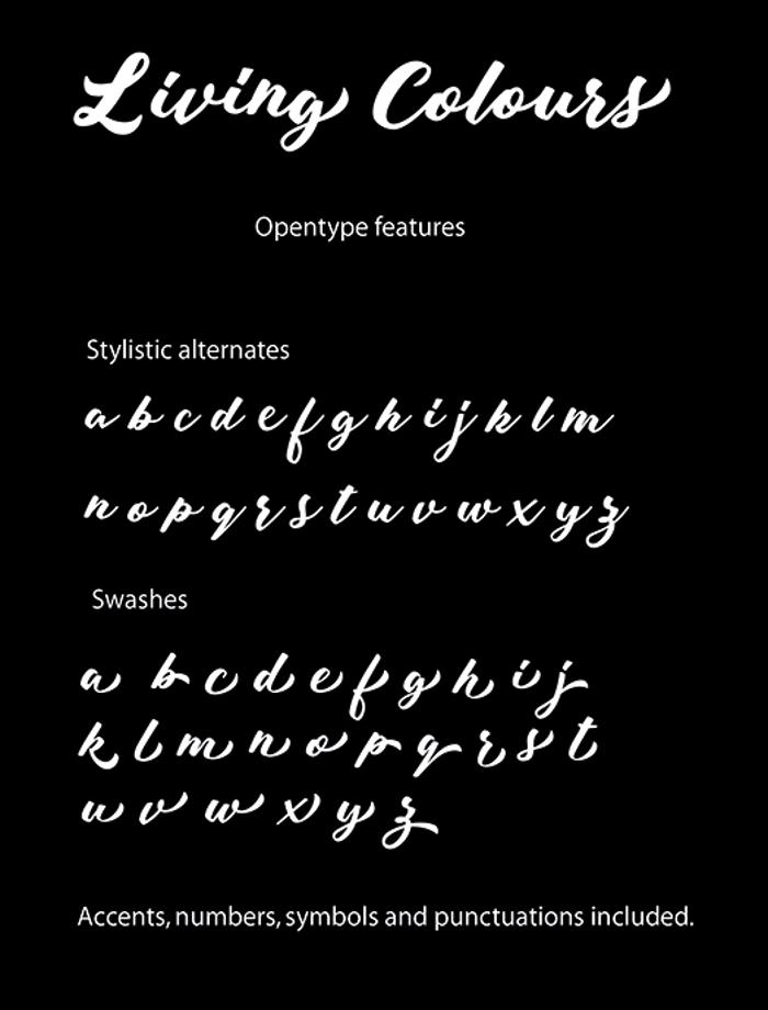 Living Colours Font poster