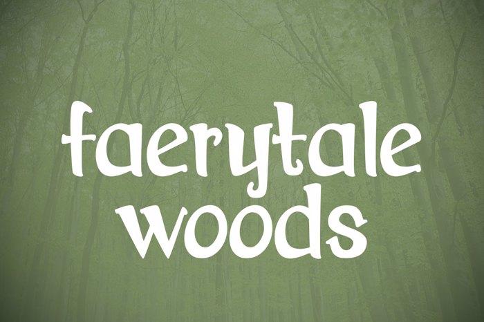 Faerytale Woods Font poster