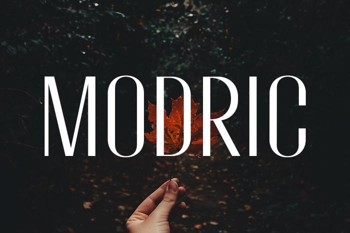 Modric Font poster