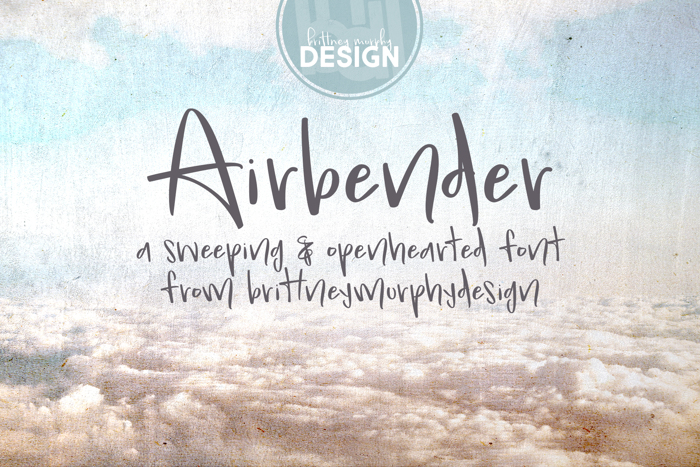 Airbender Font poster