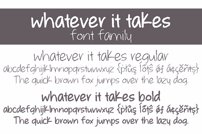 whatever it takes Font poster