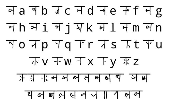 mudrakshar 4 Font poster