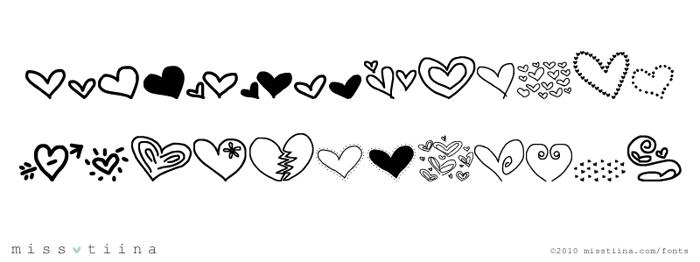 MTF Heart Doodle Font poster