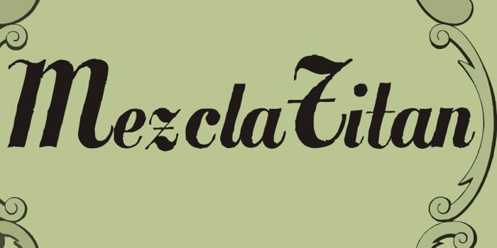 MezclaTitan Font poster