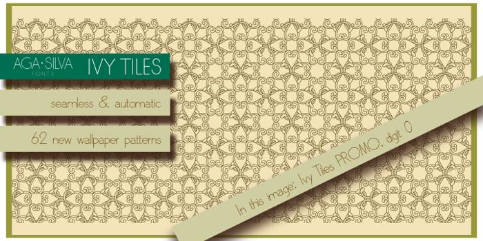 Ivy Tiles Font poster