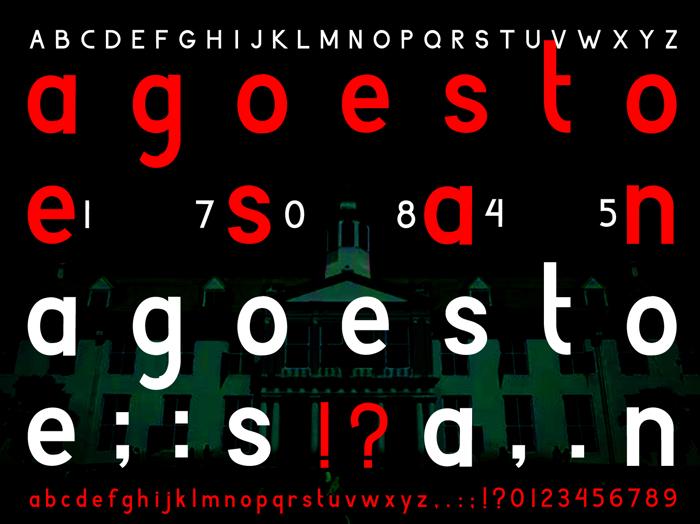 Agoestoesan Font poster
