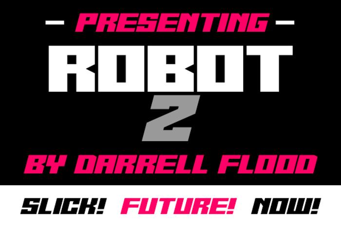 Robot Z Font poster