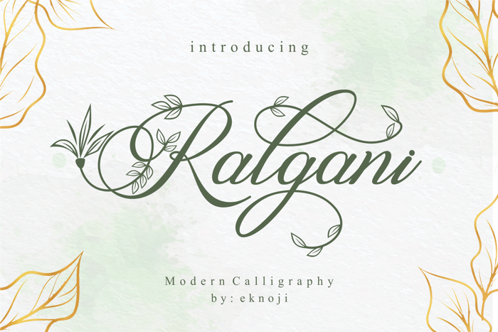 Ralgani Font poster