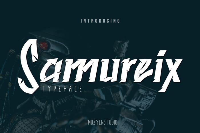 Samureix Font poster