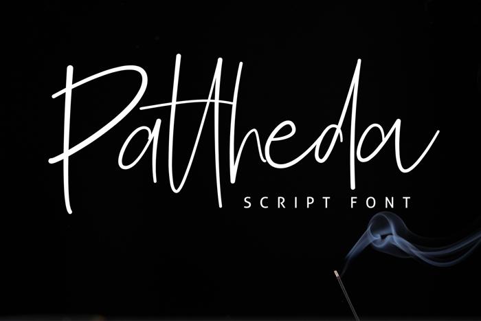 Pattheda Font poster