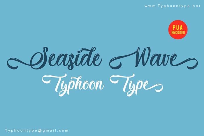 Seaside Wave Font poster