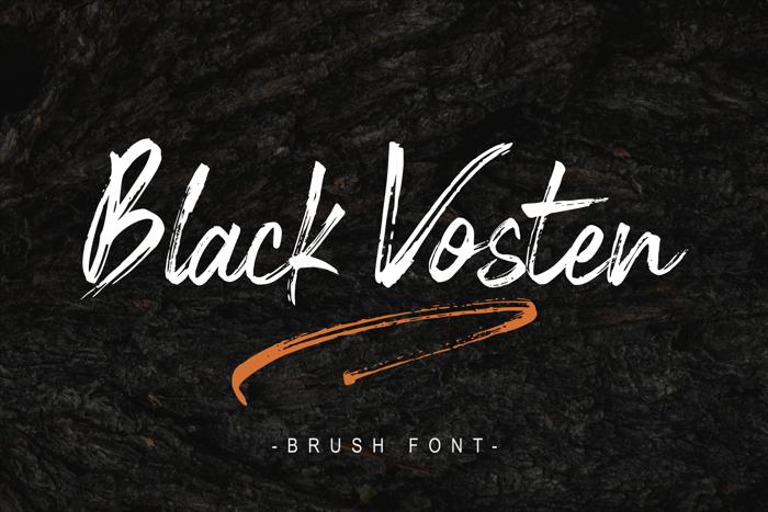 Black Vosten Font poster