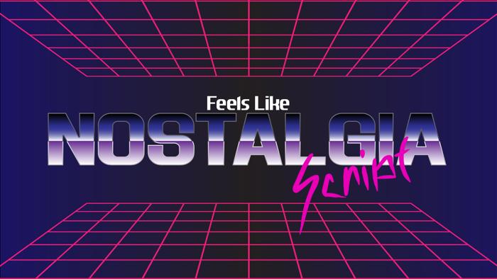 Feels Like Nostalgia Script Font poster
