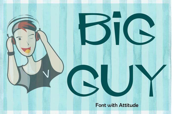 EP Big Guy Font poster