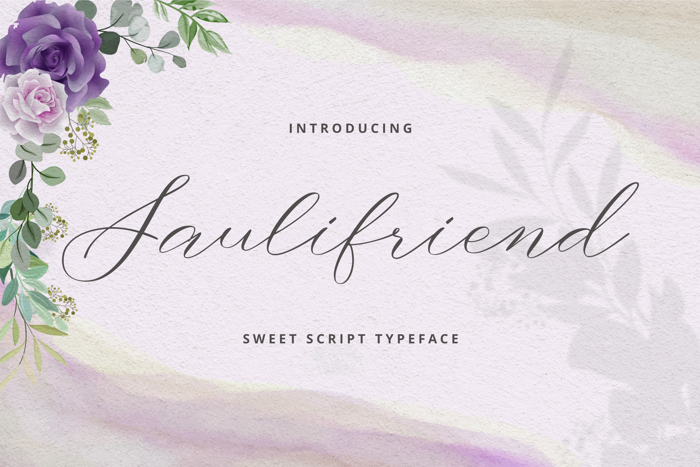 Saulifriend Font poster
