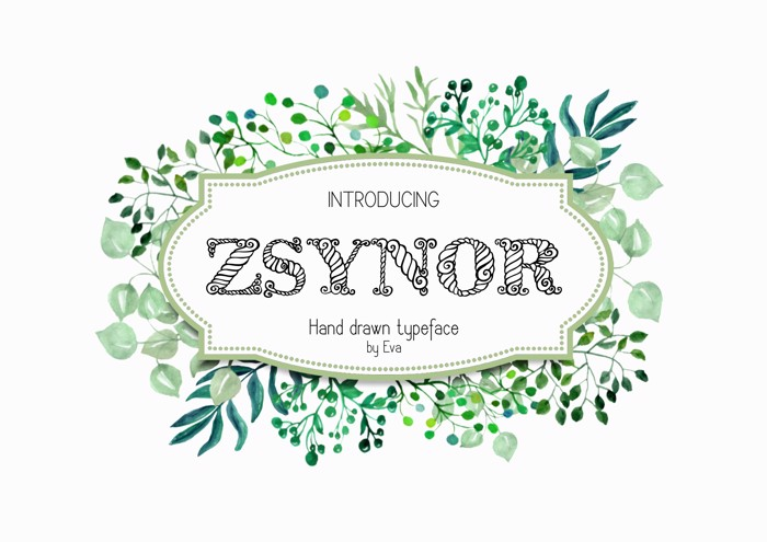 Zsynor Font poster