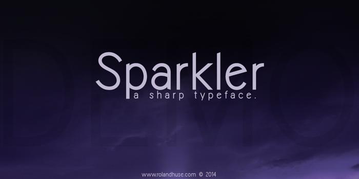 Sparkler-Demo Font poster