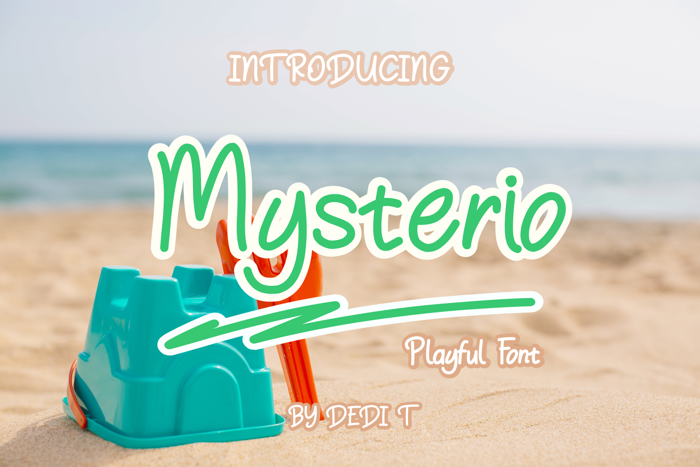 Mysterio Font poster