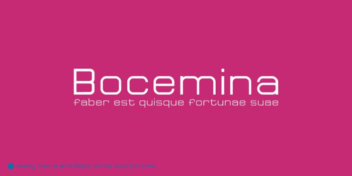 Bocemina Font poster