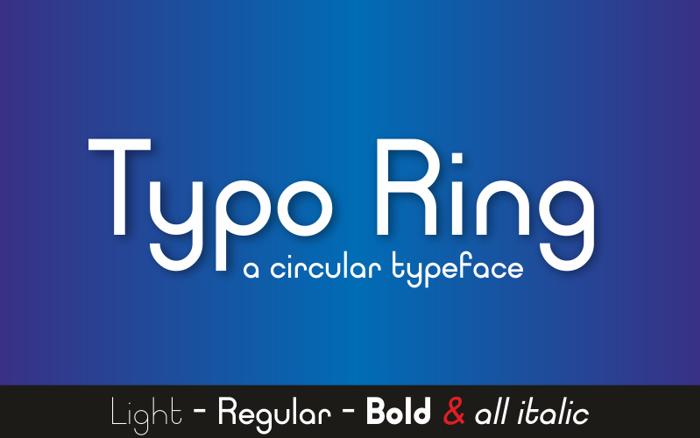 Typo Ring Font poster