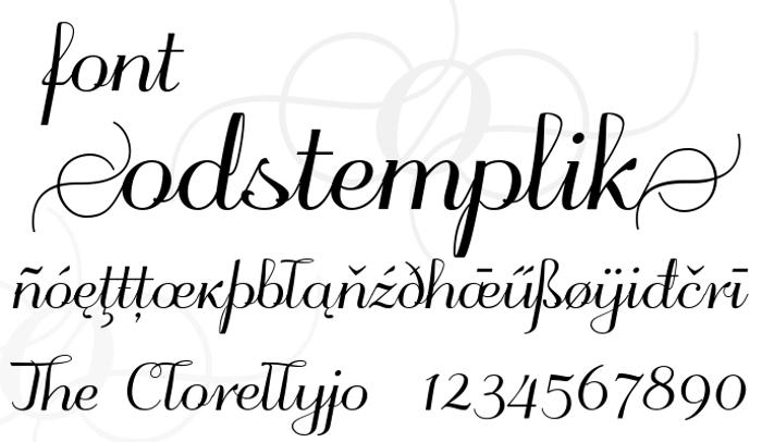 odstemplik Font poster