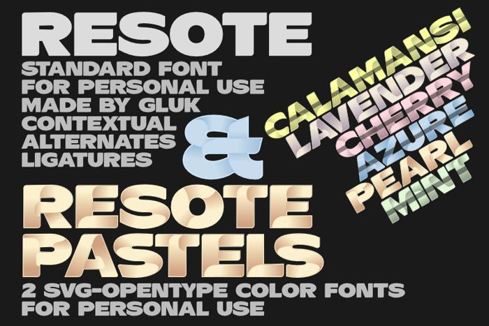 ResotE Font poster