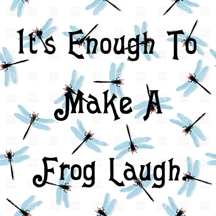 Laughing Frog Font poster