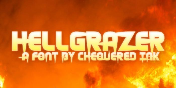 Hellgrazer Font poster