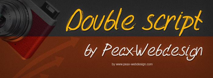 PWDoubleScript Font poster