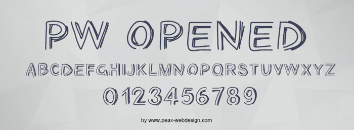 PWOpened Font poster