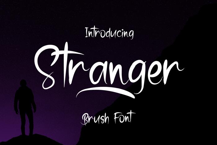 Stranger Font poster