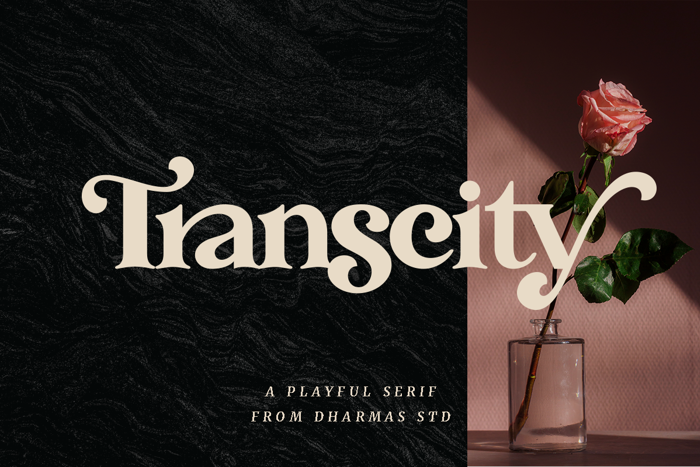 Transcity Font poster