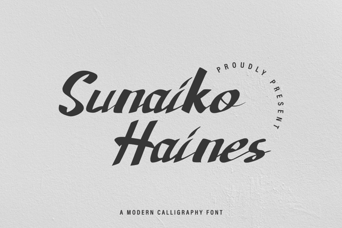 Sunaiko Haines Font poster