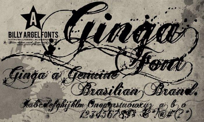 Ginga Font poster