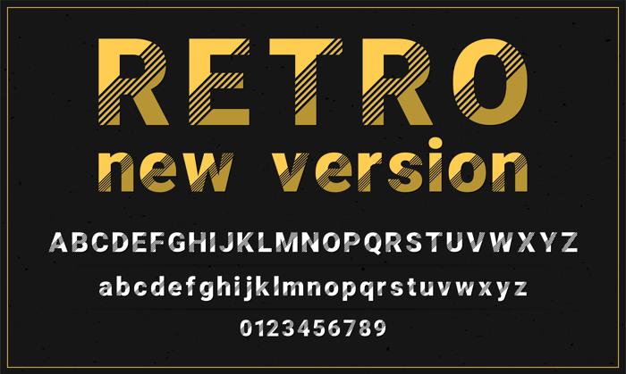 Retro New Version Font poster