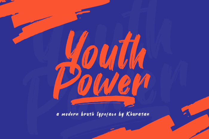 Youth Power Font poster