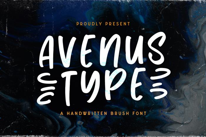 Avenus Type Font poster