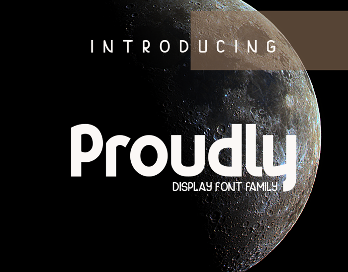 Proudly Font poster