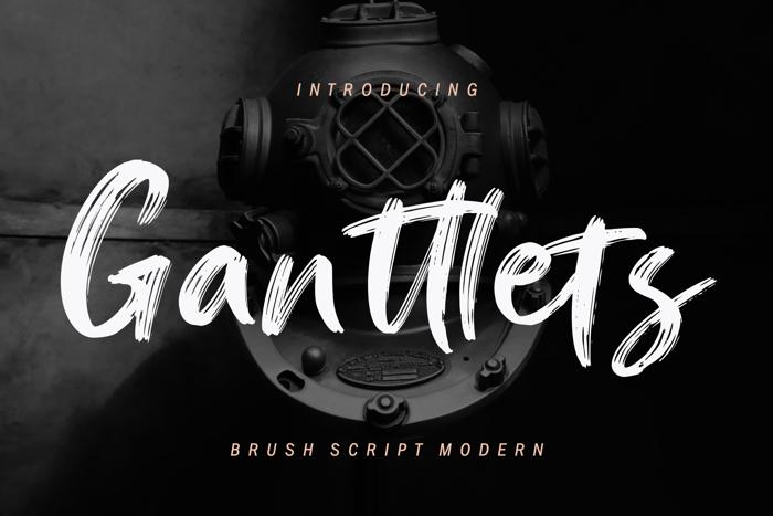 Ganttlets Font poster