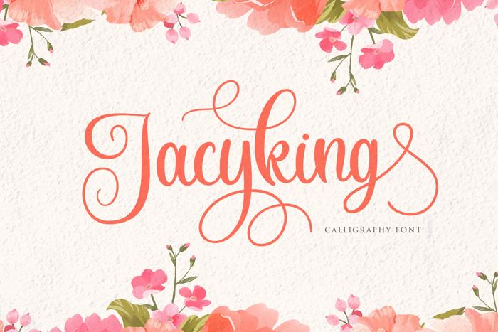 Jacyking Font poster