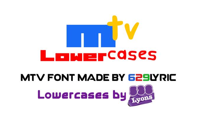 MTV Lowercase 1 Font poster