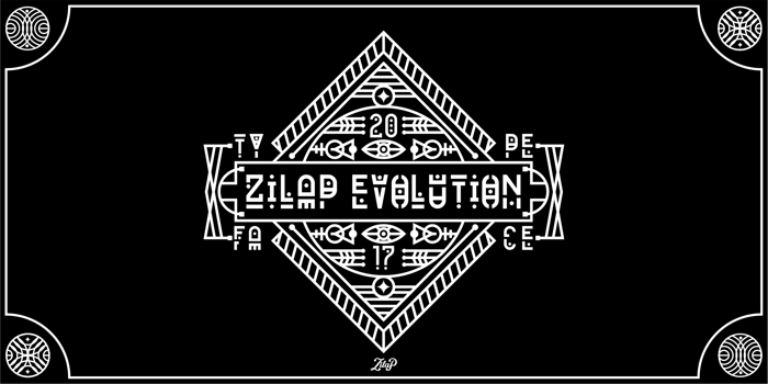 Zilap Evolution Font poster